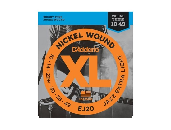 D'Addario EJ20 Nickel Wound Jazz Extra Light Guitar Strings