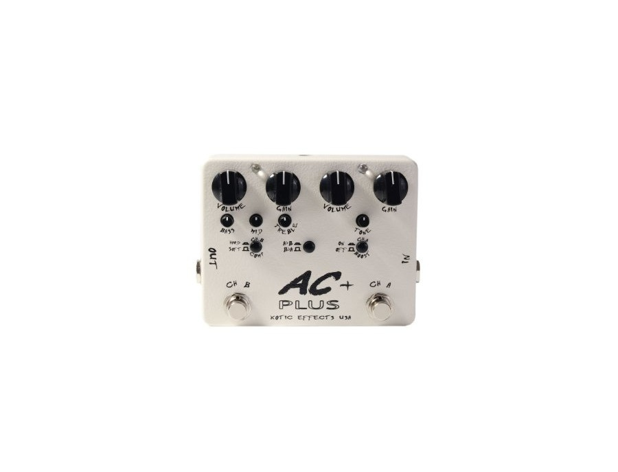 Xotic ac plus 2 channel boost overdrive pedal with compressor and eq xl