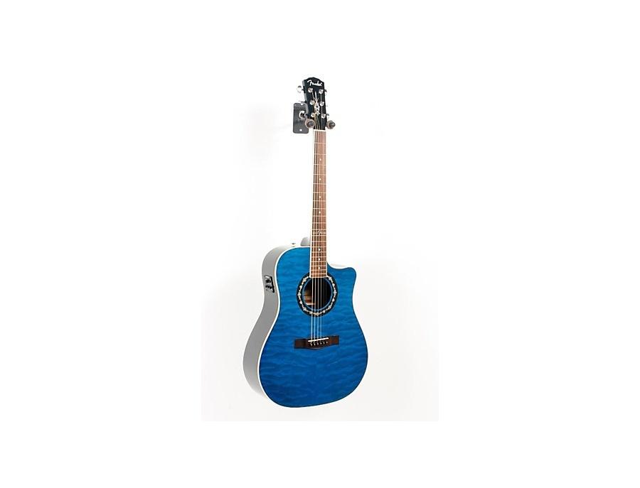 Fender T-Bucket 300 CE Cutaway Acoustic-Electric Dreadnought Guitar (Transparent Blue)
