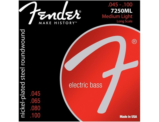 Fender Nickel Plated Steel Roundwound .045 - .100 Electric Bass Strings