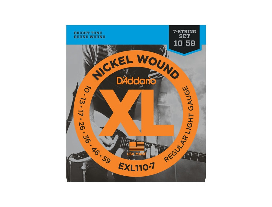 D'Addario EXL110-7 Nickel Wound (.010-059) Guitar Strings