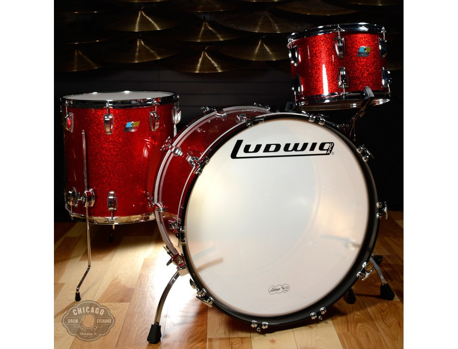Ludwig classic kit red sparkle xl