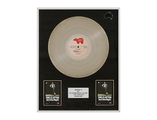 "ARIA Platinum Sales Award – ""Just One Night"""