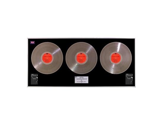 """BPI 3x Platinum Sales Award – """"The Cream of Eric Clapton"""""""