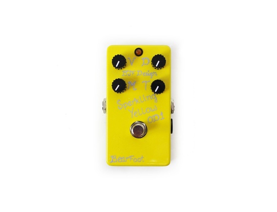 BearFoot FX Sparkling Yellow Overdrive 1