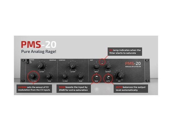 Primal Audio Release PMS-20 Analog HP/LP Filter