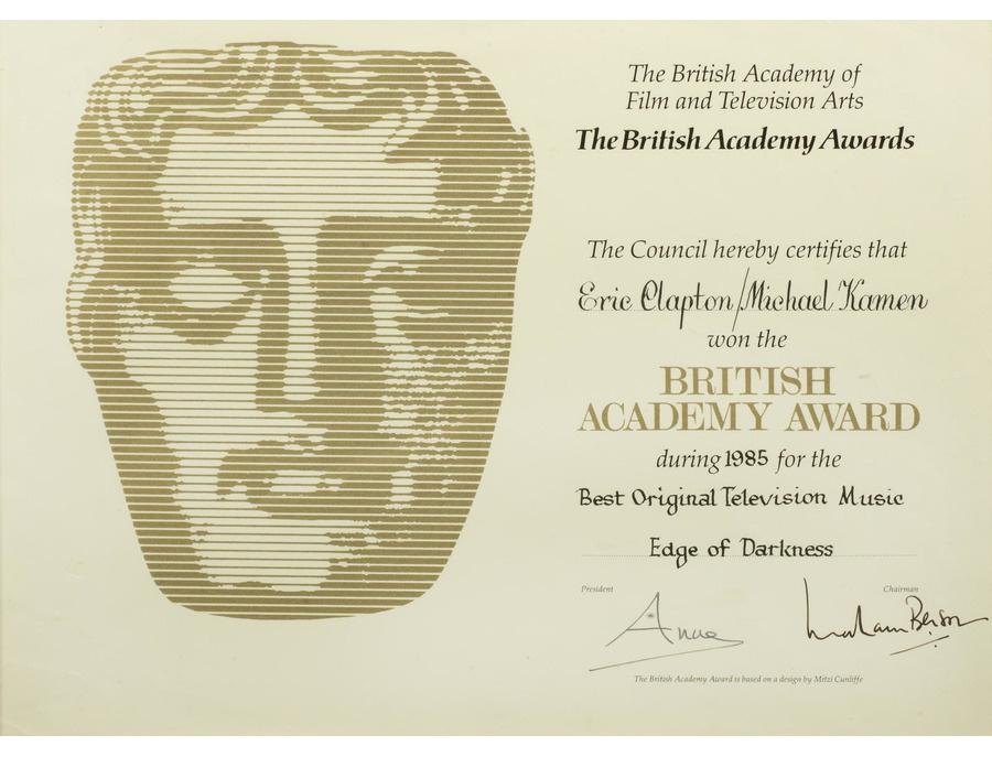 "BAFTA British Academy Award Certification – ""Edge of Darkness"""