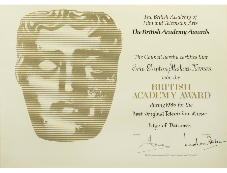 "BAFTA British Academy Award Certification – ""Edge of Darkness"""
