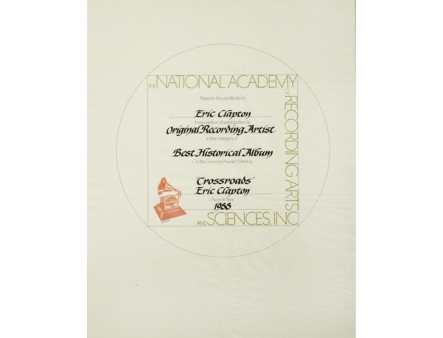 "Grammy Award Participation Certificate – ""Crossroads"""