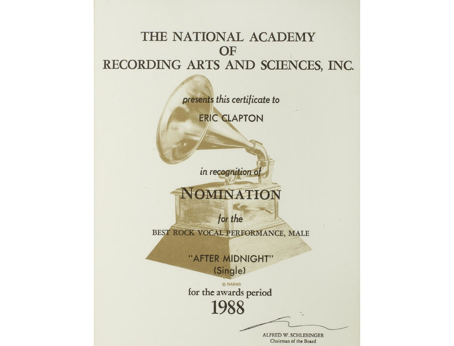 "Grammy Award Nomination Letter – ""After Midnight (Single)"""