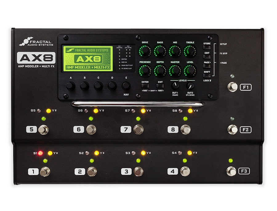 Fractal audio systems ax8 amp modeler multi fx processor xl