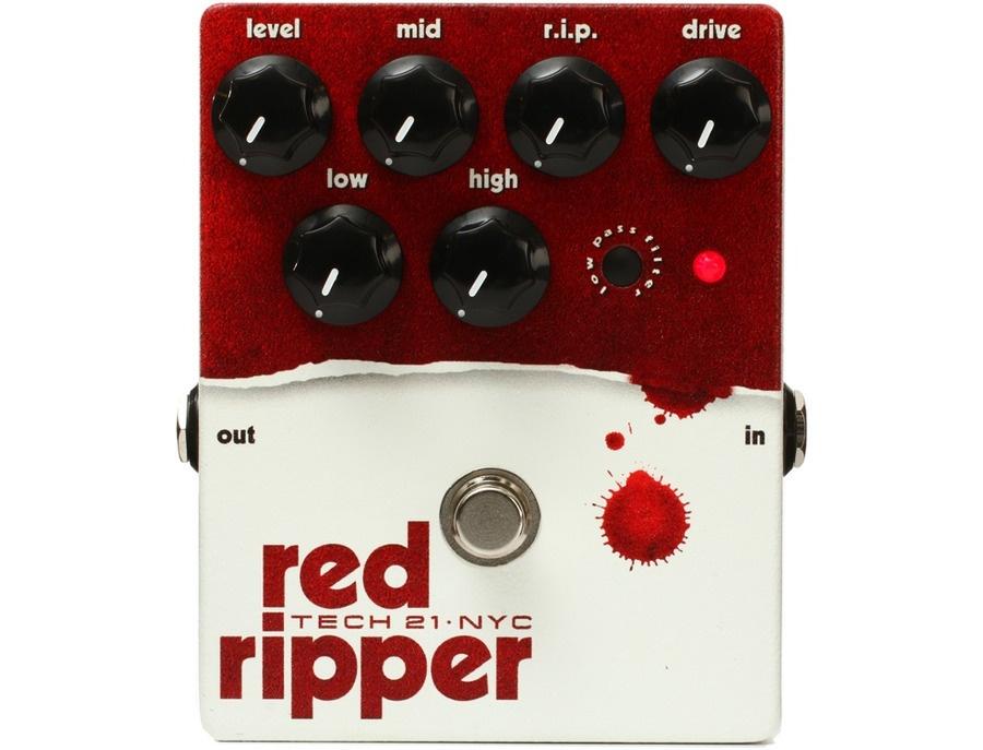 Tech 21 RIP Red Ripper Bass Distortion Effect Pedal