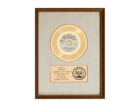 "RIAA Gold Sales Award – ""Sunshine of Your Love"""