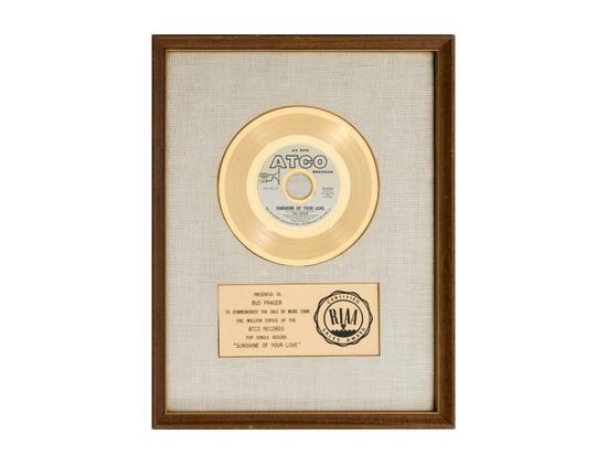 "RIAA Gold Sales Award – ""Sunshine of Your Love"""