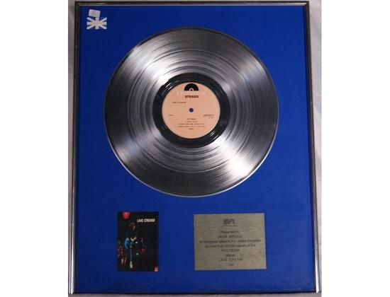 "BPI Silver Sales Award – ""Live Cream"""