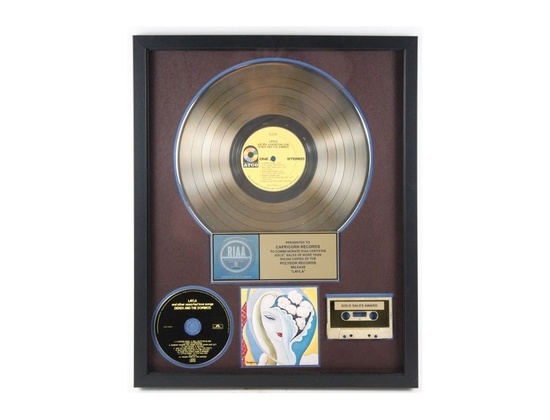 """RIAA Gold Sales Award – """"Layla and Other Assorted Love Songs"""" [3]"""