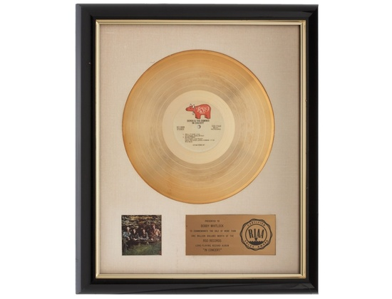 "RIAA Gold Sales Award – ""In Concert"""