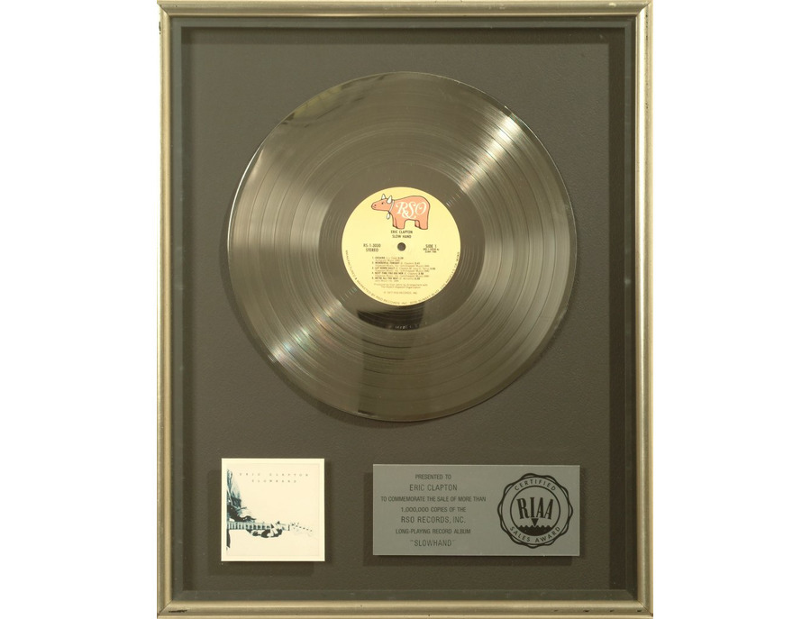 "RIAA Platinum Sales Award – ""Slowhand"" [1]"