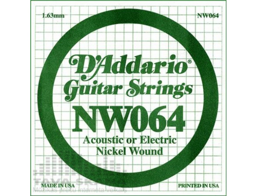 D'Addario NW064 XL Nickel Wound Single Electric