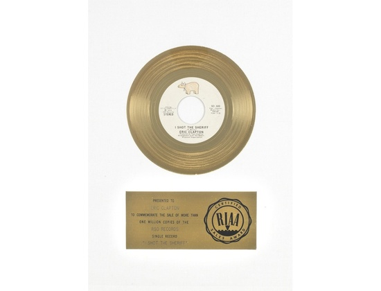 "RIAA Gold Sales Award – ""I Shot the Sheriff"""