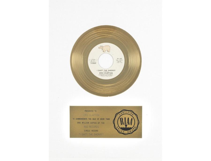 "RIAA Gold Sales Award – ""I Shot the Sheriff"""