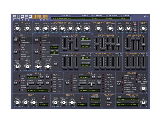 Superwave Trance-Pro Synthesizer Plugins