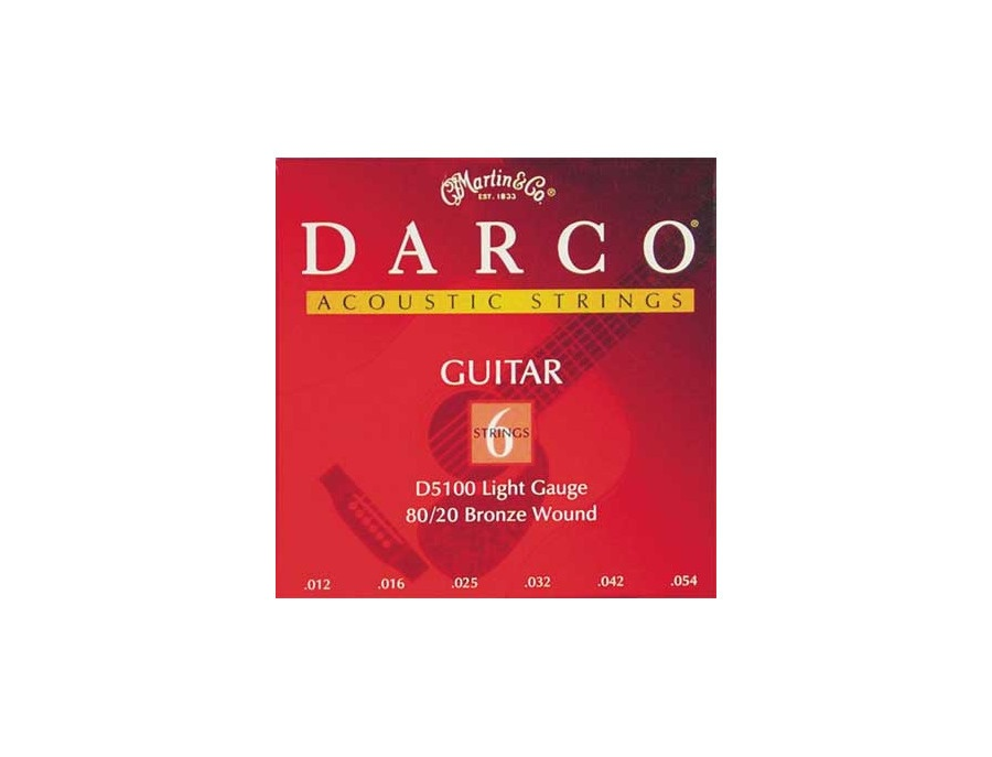 Martin Darco 80/20 Bronze Light Gauge Strings (.012-.054)