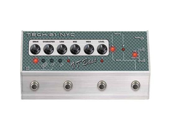 Tech 21 SansAmp VT Bass Deluxe Distortion Effects Pedal