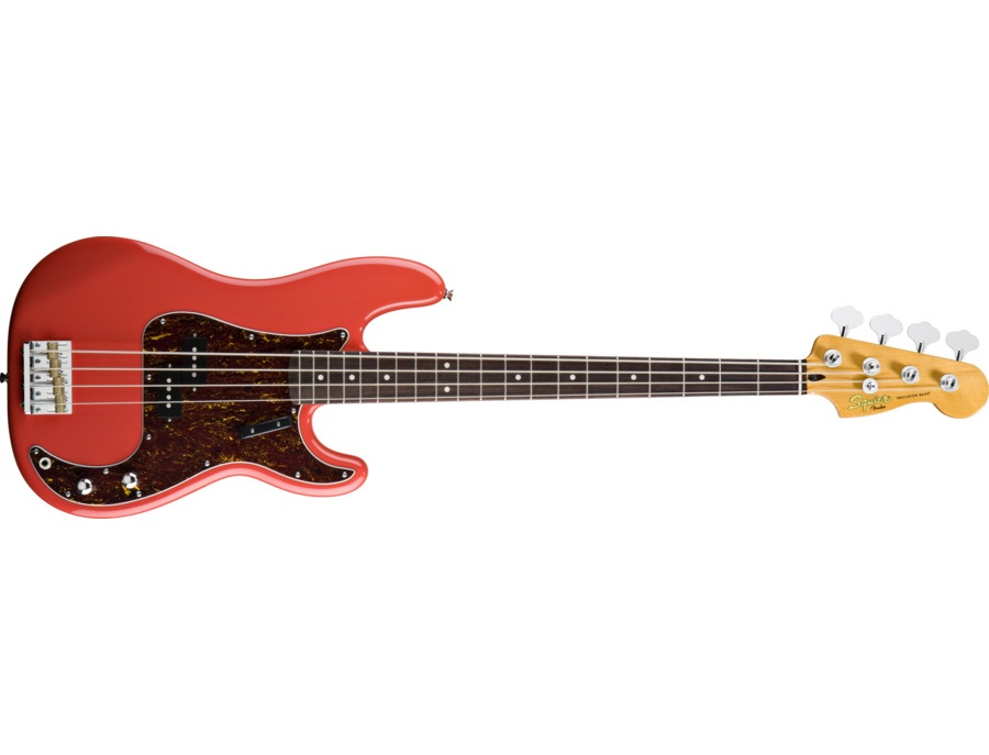 squier classic vibe 60s precision bass fiesta red