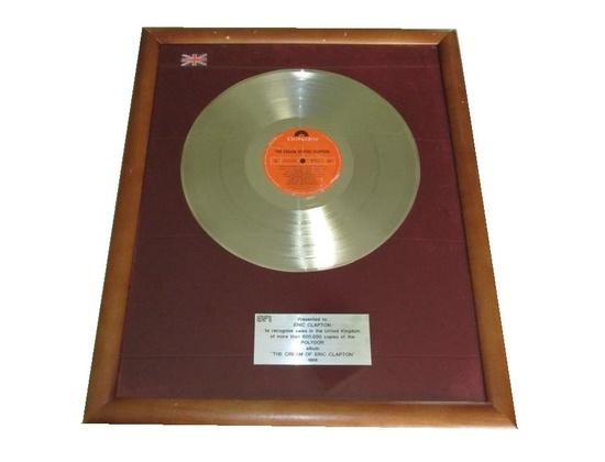 """BPI 2x Platinum Sales Award – """"The Cream of Eric Clapton"""""""