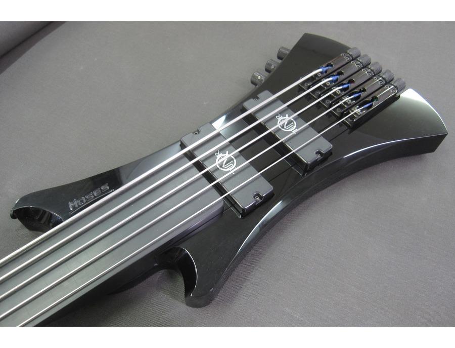 Custom Moses bass fitted with neodymium Q-tuner q2.0 pickups