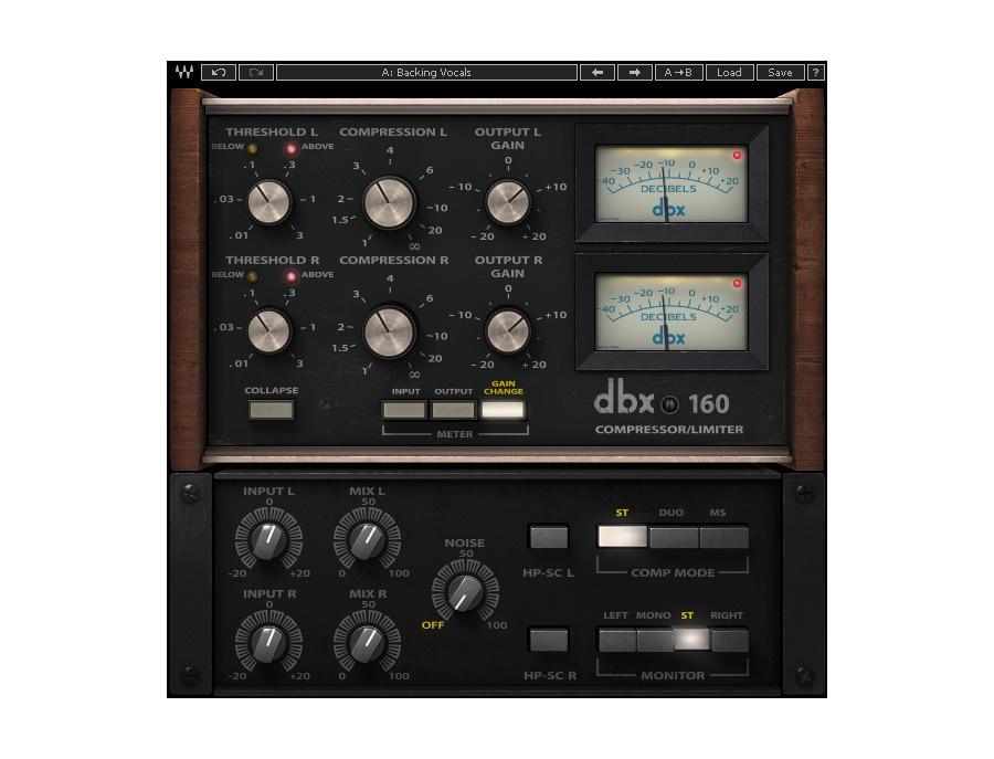 Waves dbx 160 compressor limiter xl