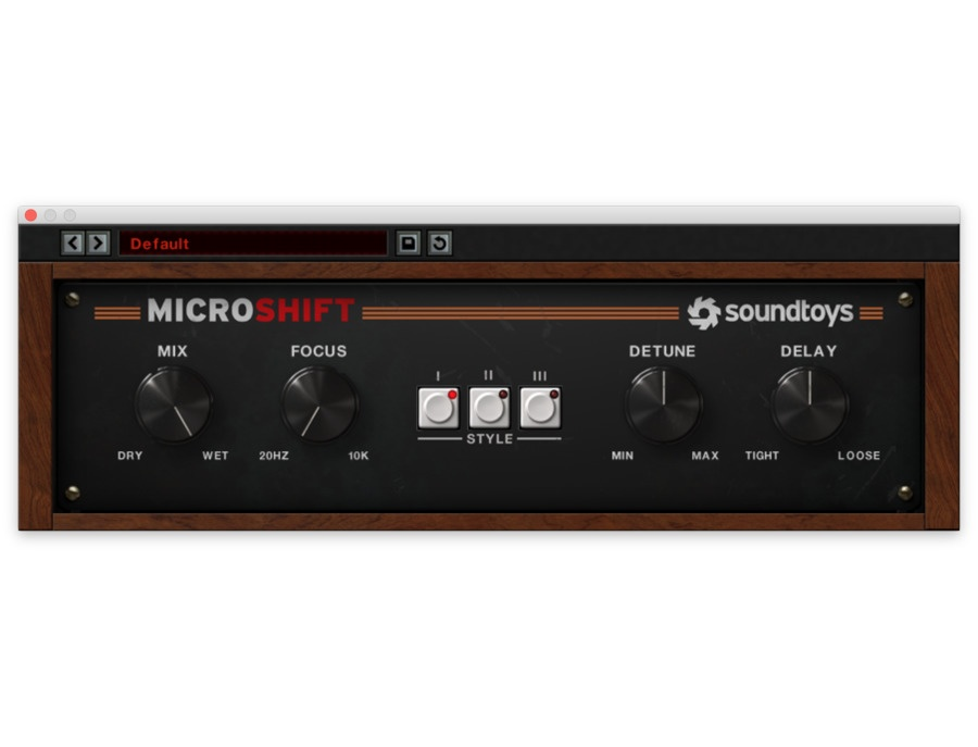 Soundtoys microshift xl