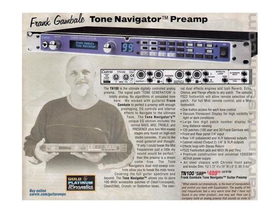 Carvin TN100 tone navigator preamp