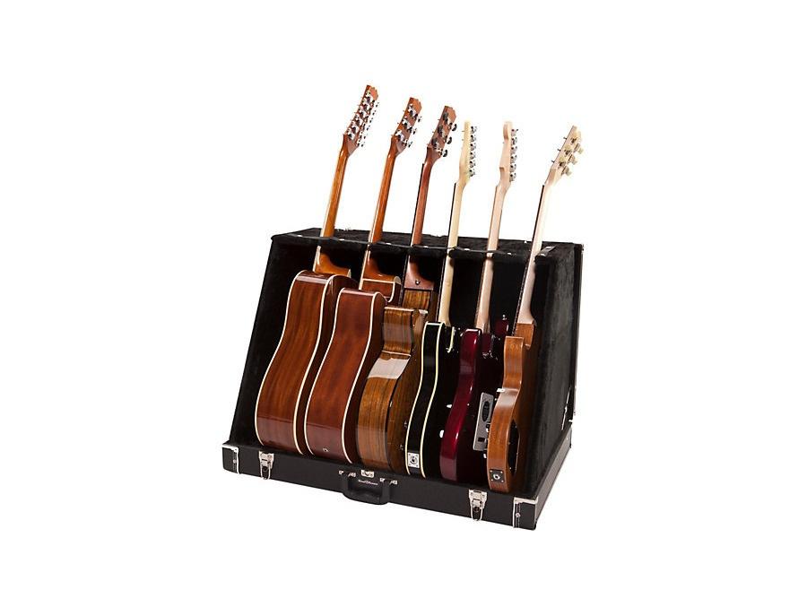Road Runner RRGS6 6 Guitar Stand Case Black Tolex