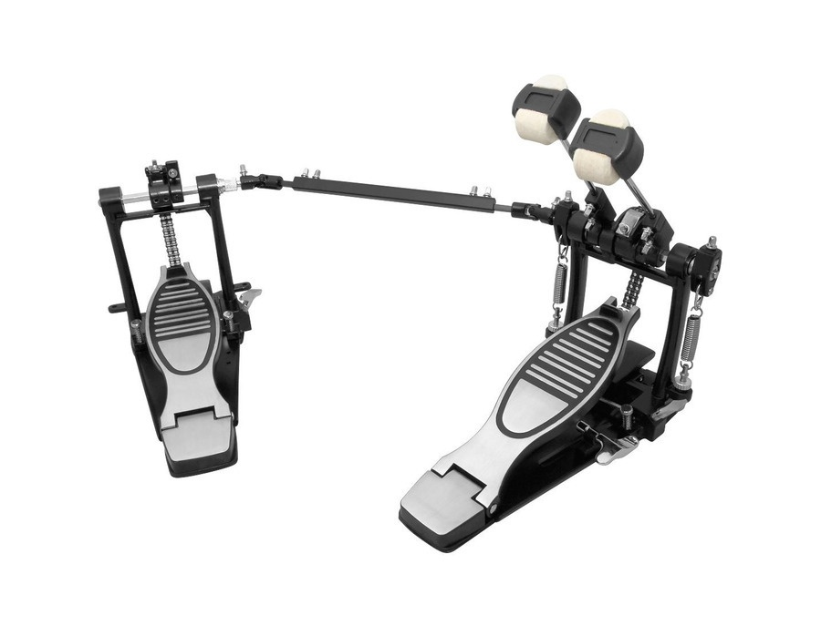 Essentials Double Kick Bass Drum Pedal, Chain Driven With Solid Baseplates