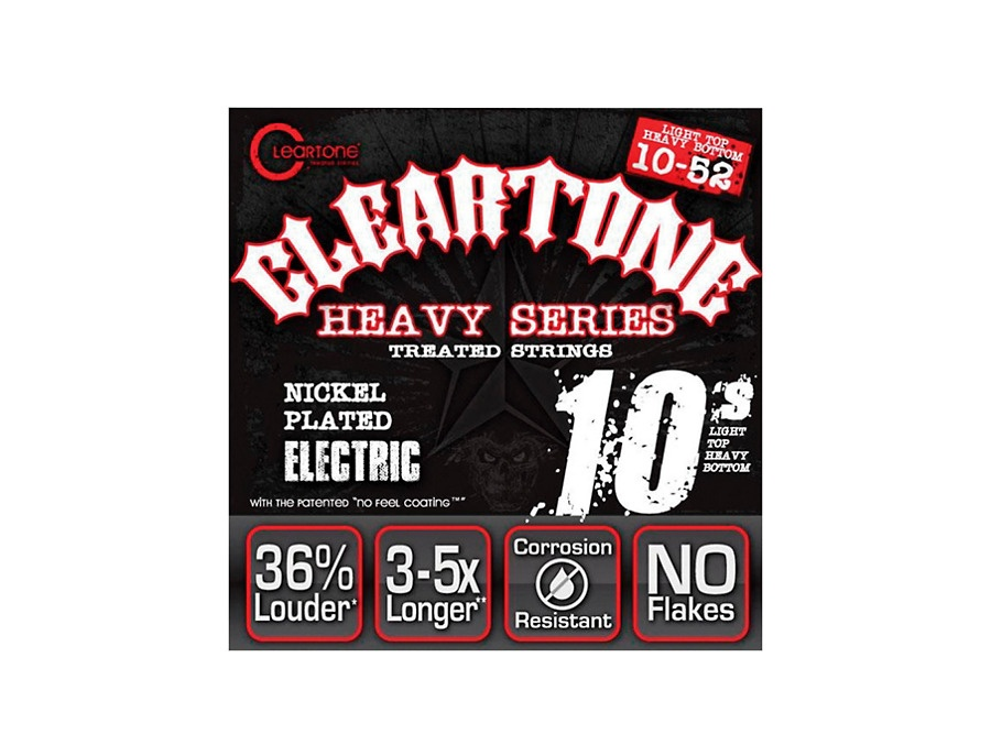 Cleartone monster heavy series electric light top heavy bottom 10 52 guitar strings xl