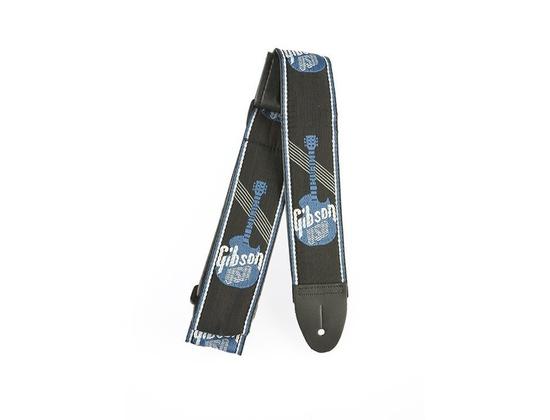 """Woven Style 2"""" Strap w/Gibson Logo - Steel Blue"""