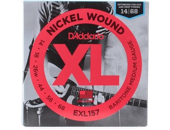 D'Addario EXL157 Nickel Wound Medium Baritone Guitar Strings 14-68