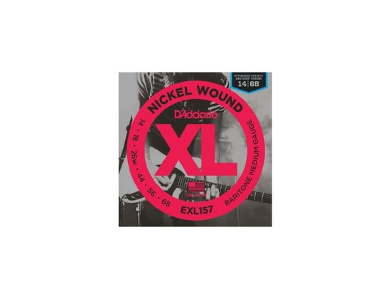 D'Addario EXL157 Nickel Wound Medium Baritone Guitar Strings 14-68