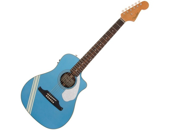 Fender FSR Malibu CE Mustang Electro Acoustic Guitar - Lake Placid Blue