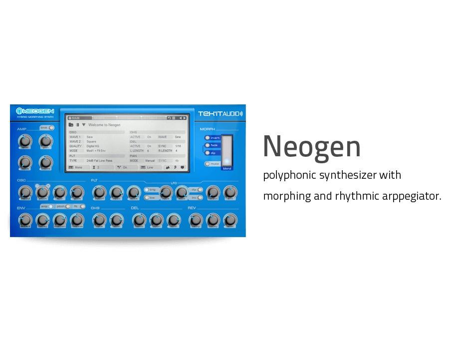 Tek'it Audio Neogen Hybrid Morphing Synthesizer