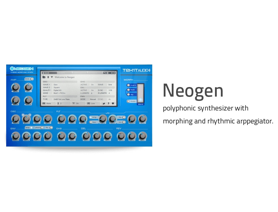 Tek'it Audio Neogen Hybrid Morphing Synthesizer