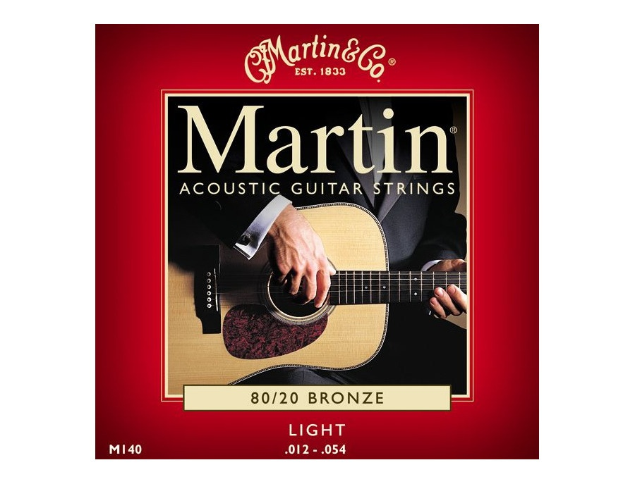 Martin & Co. M140 80/20 Bronze Acoustic Guitar Strings Light