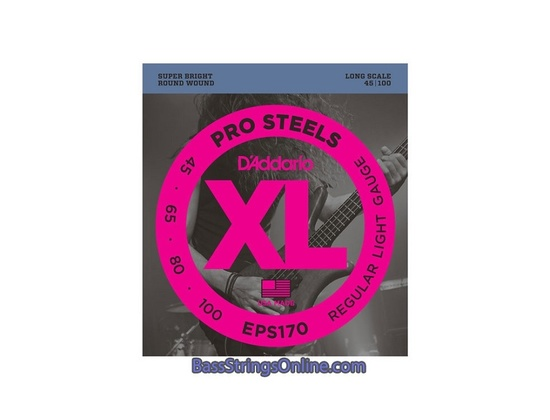 D'Addario Pro Steels 45-100 Regular Light Gauge