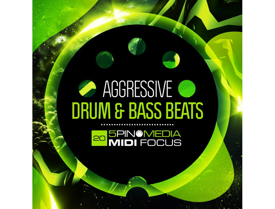 5Pin Media MIDI Focus - Aggressive Drum & Bass Beats