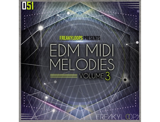 Freaky Loops EDM MIDI Melodies Vol. 3