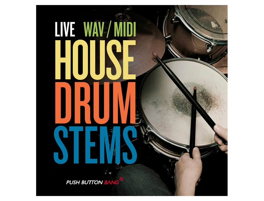 Push Button Bang Live House Drum Stems