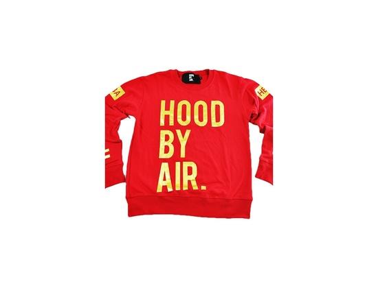"HBA""Hood by Air"" Heat Long Sleeve Red Shirt"