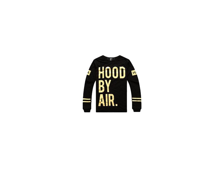 "HBA""Hood by Air"" Heat Long Sleeve Black Shirt"
